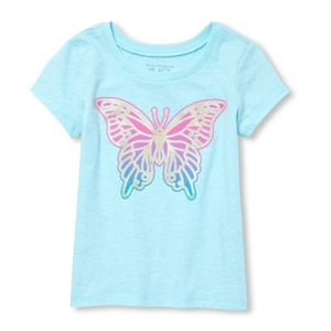 NWT Children's Place Light Blue Butterfly 12-18mo